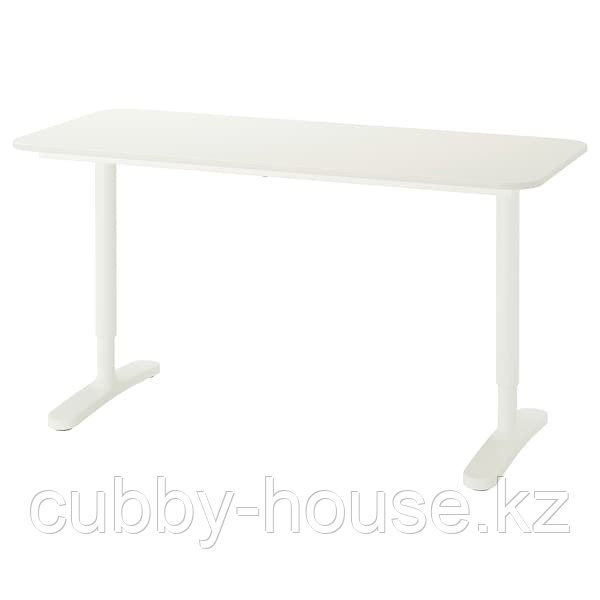 BEKANT БЕКАНТ Письменный стол, белый, 140x60 см