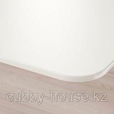 BEKANT БЕКАНТ Письменный стол, белый, 140x60 см, фото 3