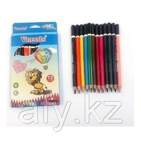 Цветные карандаши V06.39  толстые