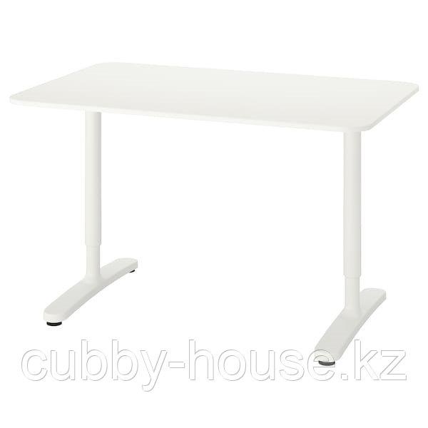 BEKANT БЕКАНТ Письменный стол, белый, 120x80 см