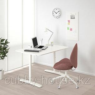 BEKANT БЕКАНТ Письменный стол, белый, 120x80 см, фото 2
