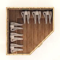 Инфракрасная сауна 6-м. 1,8*2,1*2 м. / Стандарт