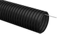 Труба гофр.ПНД d 16 с зондом (25 м) ИЭК черный