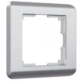 Рамка на 1 пост /W0012106 (серебряный)