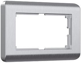 Рамка для двойной розетки /W0082106 (серебряный)