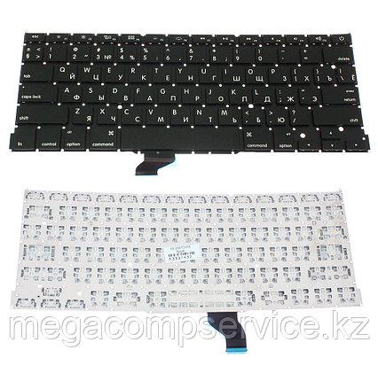 Клавиатура для ноутбука Apple MacBook PRO A1502,  RU, маленький Enter, для подсветки, черная, фото 2