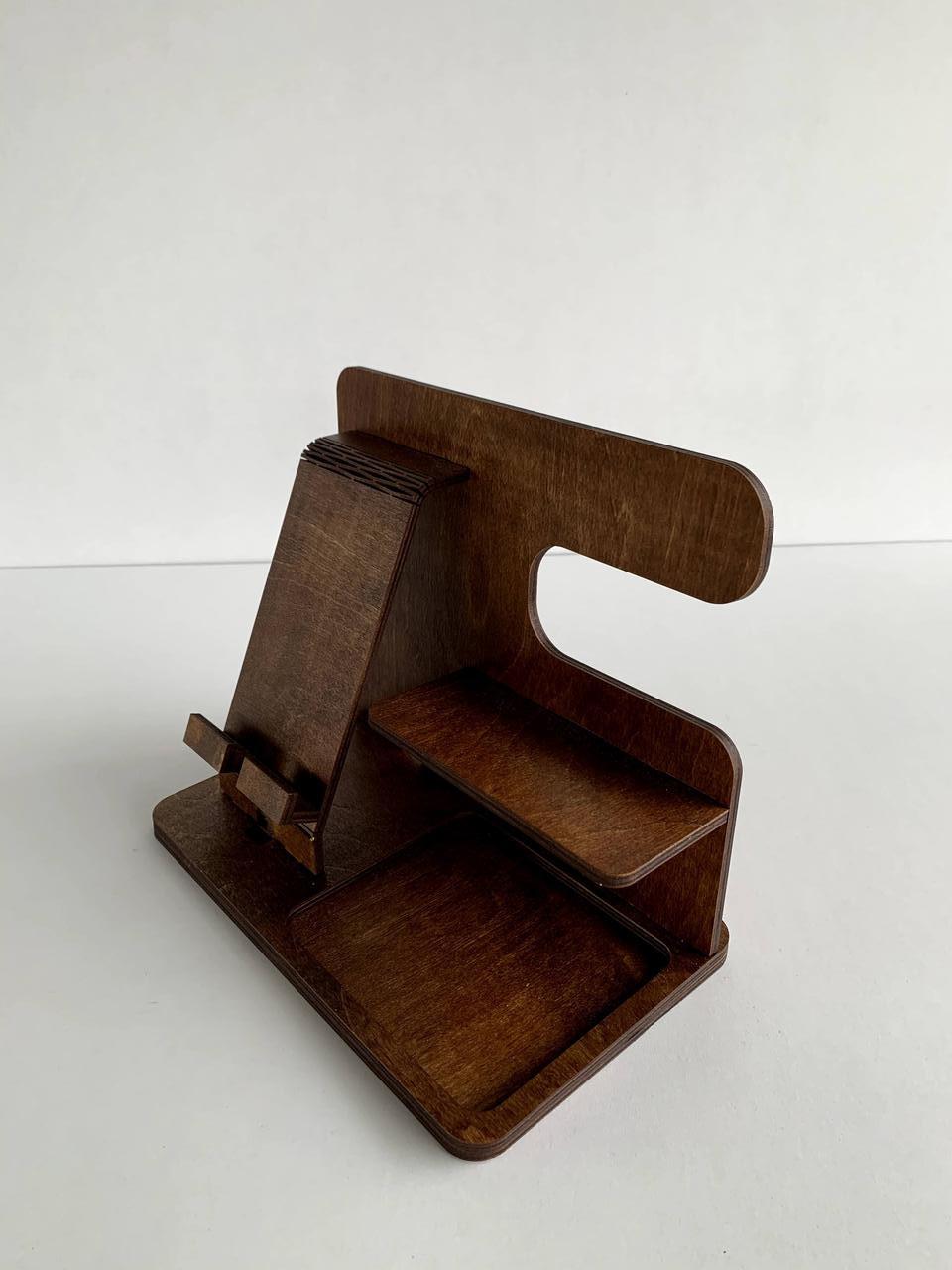 Настольный органайзер для аксессуаров и телефона - фото 1