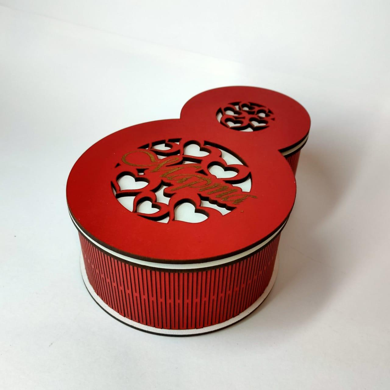 Подарочная коробка в форме цифры (цифры могут быть любыми) - фото 3