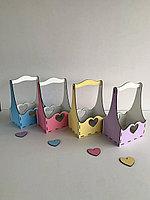 """Подарочная корзинка """"Сердечки"""" под цветы или любое другое наполнение"""