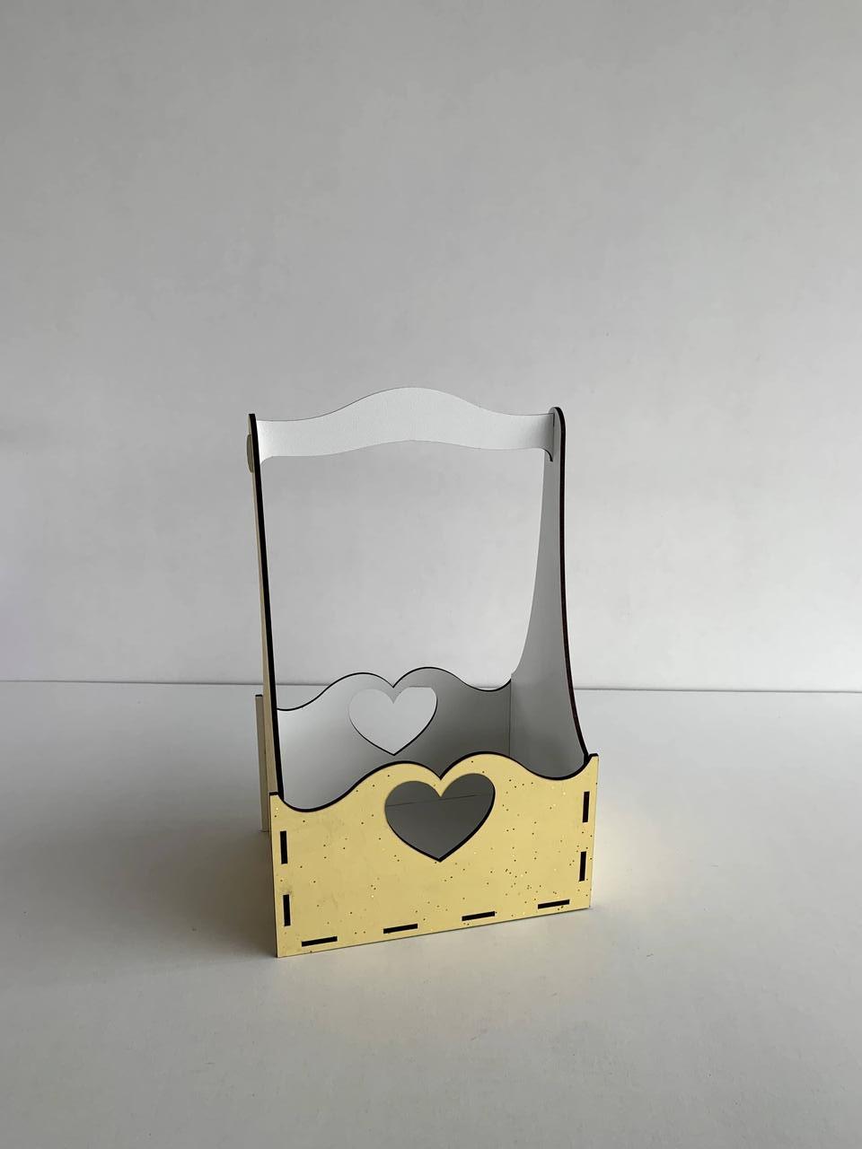 """Подарочная корзинка """"Сердечки"""" под цветы или любое другое наполнение - фото 3"""