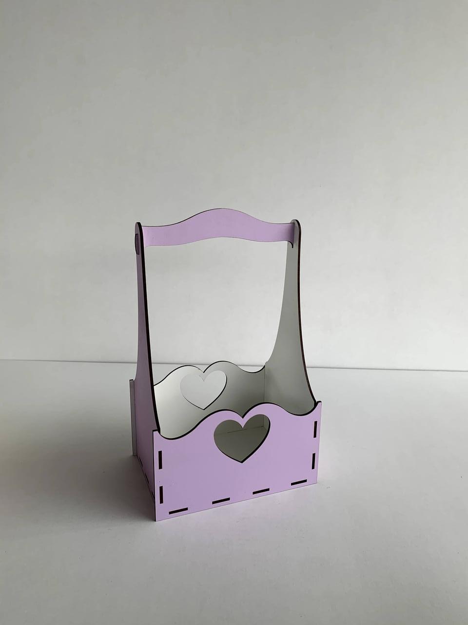 """Подарочная корзинка """"Сердечки"""" под цветы или любое другое наполнение - фото 4"""