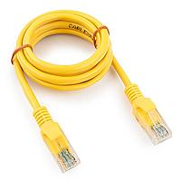 Патч-корд UTP Cablexpert PP12-1M/Y кат.5e 1м литой многожильный (жёлтый)