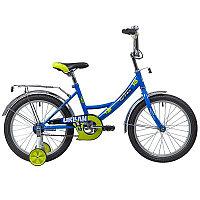 "Велосипед NOVATRACK 18"", URBAN, синий, защита А-тип, тормоз нож., крылья и багажник хром.,"