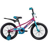 "Велосипед NOVATRACK 18"", VALIANT, фуксия, защита А-тип, тормоз нож, короткие крылья, нет багажника"