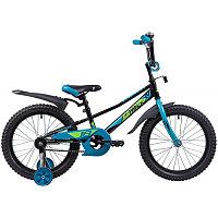 """Велосипед NOVATRACK 18"""", VALIANT, черный, защита А-тип, тормоз нож, короткие крылья, нет багажника"""