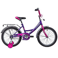 """Велосипед NOVATRACK 18"""", VECTOR, лиловый, защита А-тип, тормоз нож., крылья и багажник хром."""