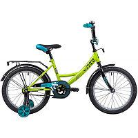 """Велосипед NOVATRACK 18"""", VECTOR, салатовый, защита А-тип, тормоз нож., крылья и багажник чёрн."""