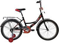"""Велосипед NOVATRACK 20"""" URBAN чёрный, защита А-тип, тормоз нож, крылья и багажник хром"""