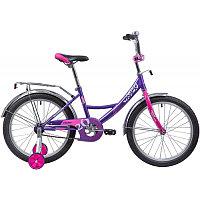 """Велосипед NOVATRACK 20"""", VECTOR, лиловый, защита А-тип, тормоз нож., крылья и багажник хром."""