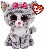 TY: Beanie Boo's. Кошка (серая) Kiki 15 см