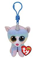 TY: Мягкая игрушка-брелок Beanie Boo's, Кошка Хитер, 10см