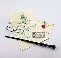 Набор Гарри Поттера Волшебная палочка+Письмо из Хогвартса+Билет на платформу 9 и 3/4+Очки