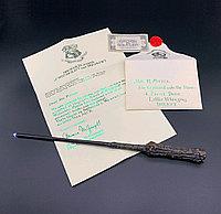 Набор Волшебная палочка Гарри Поттера с подсветкой+Письмо из Хогвартса+Билет на платформу 9 и 3/4