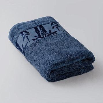 Полотенце «Бамбук», размер 50 × 90 см, махра, цвет синий