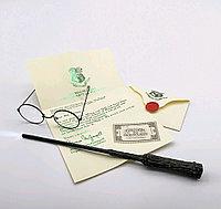 Набор Гарри Поттера Волшебная палочка, с подсветкой+Письмо из Хогвартса + Билет на платформу 9 и 3/4+ Очки