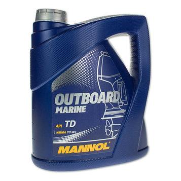 Масло моторное MANNOL 2T п/с Outboard Marine, 4 л