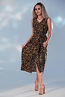 Женское летнее из вискозы платье Golden Valley 4736 черный 48р.