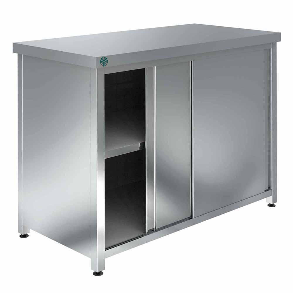 Шкаф настенный со средней полкой с дверью