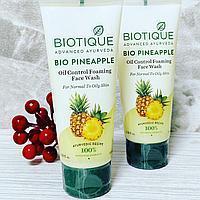 Биотик Био Ананас - гель-пенка для умывания лица с ананасом для норм-жирной кожи (Biotique Bio Pineapple) Подр