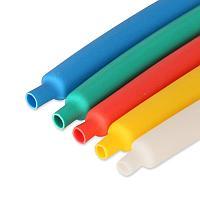 Цветная термоусадочная трубка с коэффициентом усадки 2:1 ТУТ (HF)-12/6, красн