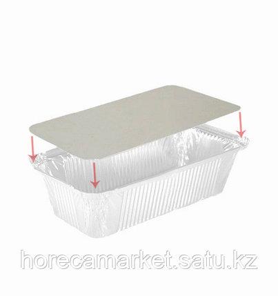 Крышка картонно-алюминиевая для контейнера 120X93мм (402-770 отпускается по 100шт), фото 2