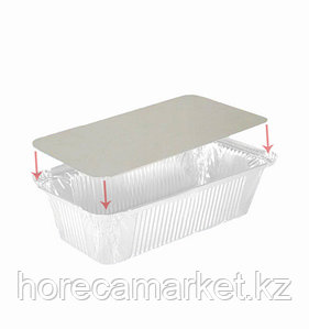 Крышка картонно-алюминиевая для контейнера 206X143мм (402-708 отпускается по 100шт)