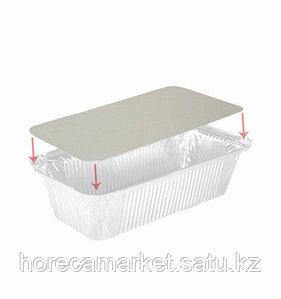 Крышка картонно-алюминиевая для контейнера 213X150мм (402-775 отпускается по 100шт)