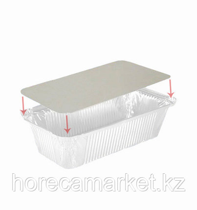 Крышка картонно-алюминиевая для контейнера 256X183мм (402-799 отпускается по 100шт), фото 2
