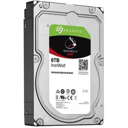 "Накопитель на жестком магнитном диске Seagate Жесткий диск HDD 6Tb Seagate IronWolf ST6000VN001 3.5"" SATA 6Gb/, фото 2"