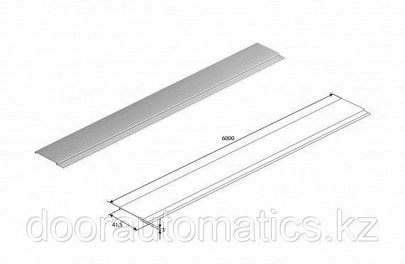 Профиль алюминиевый DHOP-02 (темный орех)