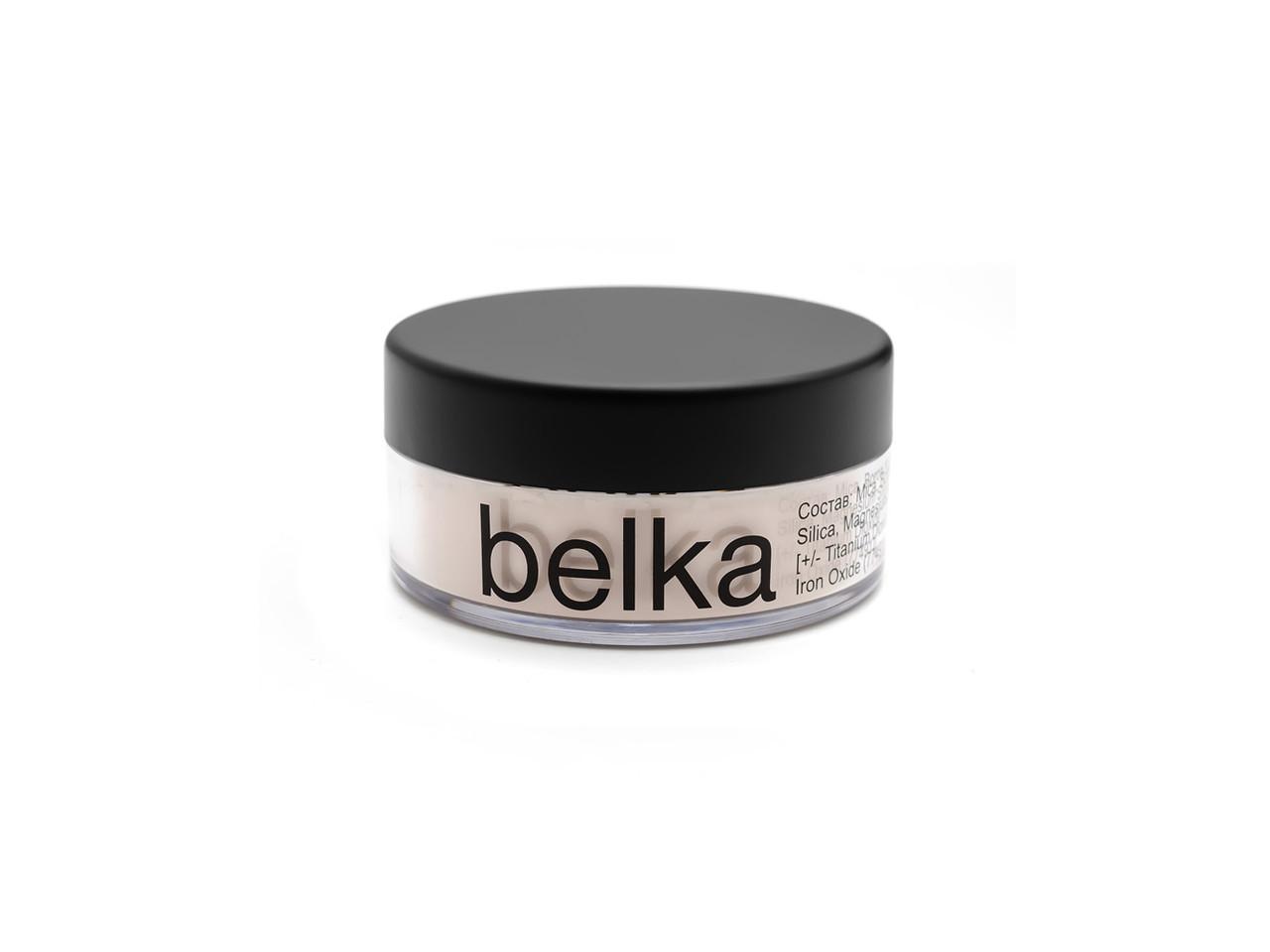 Минеральная прозрачная подсвечивающая пудра Belka