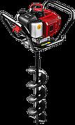Мотобур (бензобур) со шнеком, d=60-200 мм, 52 см3, 1 оператор, ЗУБР