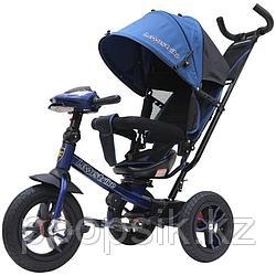 """Детский трехколесный велосипед Lexus trike, надув.12 и 10"""", темно-синий"""