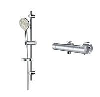 Набор смесителей для ванной комнаты 2в1 AM.PM Like F4088045: для ванны и душа с термостатом, душевая система