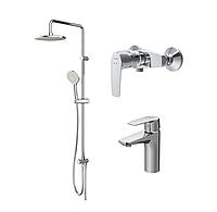 Набор смесителей для ванной комнаты 3в1 AM.PM Gem F4079060: для душа, для раковины и душевая система