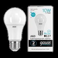 Лампа Gauss Elementary A60 10W 920lm 4100K Е27 LED