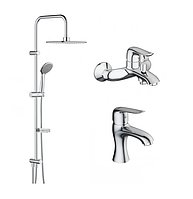 Набор смесителей для ванной комнаты 3в1 Damixa Palace Evo 2 409329140 смесители для раковины и ванны