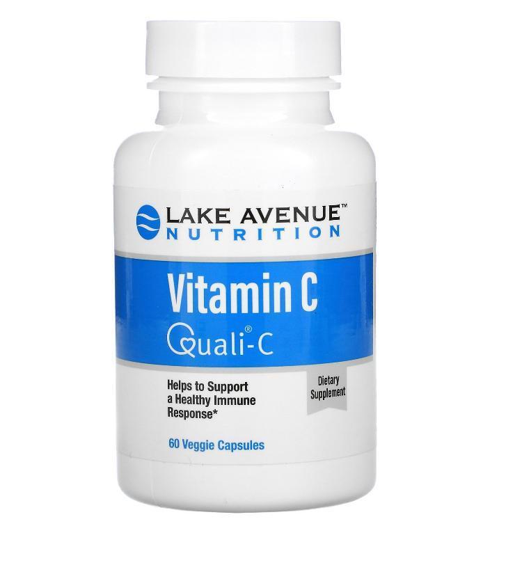 Витамин C, с Quali-C, 1000 мг, Lake Avenue Nutrition, 60 вегетарианских капсул