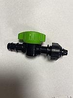 Старт-коннектор с краном для капельной трубки
