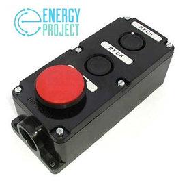 Кнопка ПКЕ 222-3 (кнопка 2-черн. и 1-красн.)